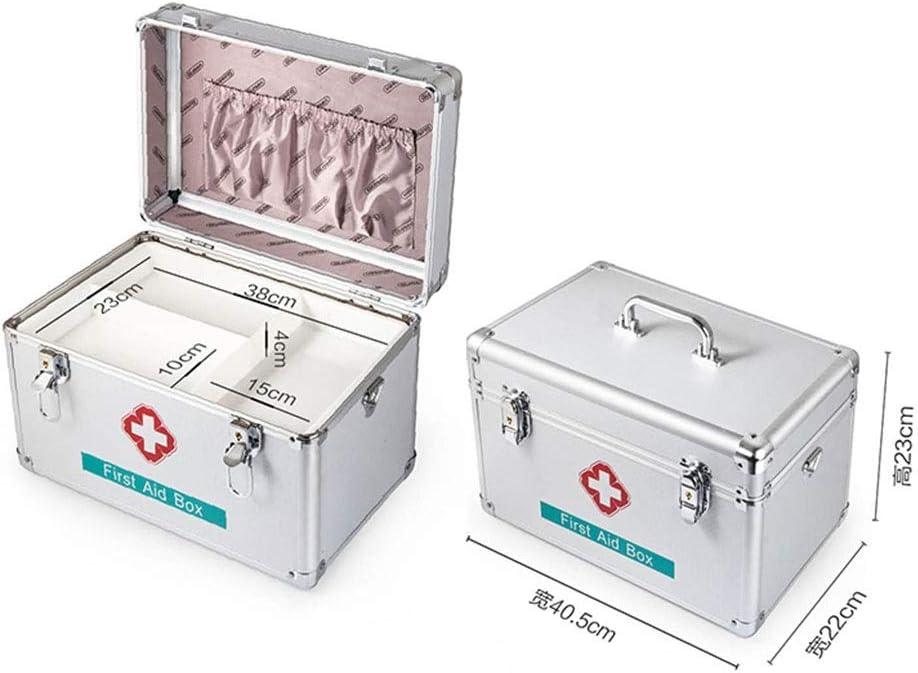 Yuanyuanliu Kit De Primeros Auxilios Para La Familia Caja De Medicina De Aleación De Aluminio Extra Grande Pequeña Caja Médica De Múltiples Capas Tratamiento Médico En El Hogar Caja Médica Material De: