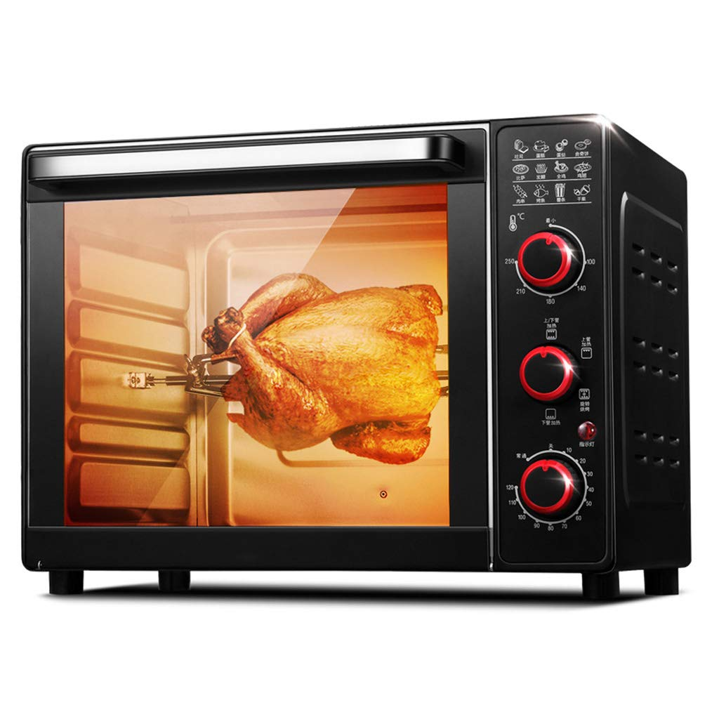 Countertop Toaster Oven With Rotating Fork,33 Liter Capacity Four-Layer Baking Layer Multiple Cooking Functions,Grilling And Baking-1600w