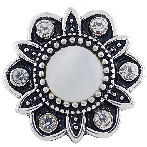Lovmoment Snap Flower Shape with Big Opal Snap Chunks Snap Jewelry Charms
