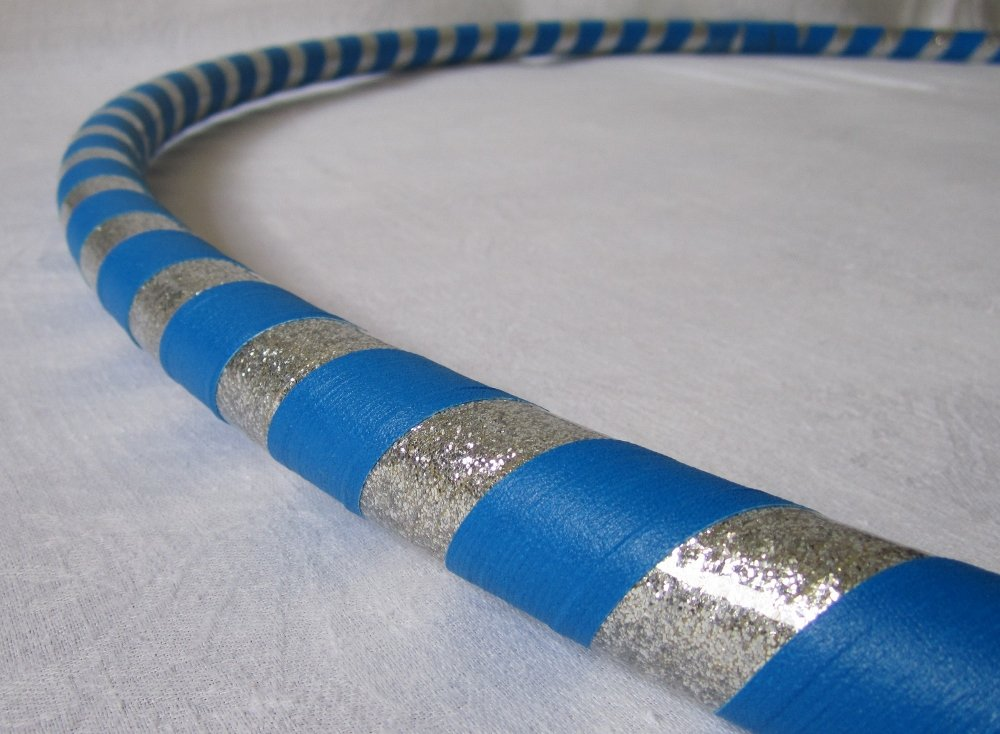 Weighted Hula Hoop for Exercise and Fitness - Glitter & Prismatic Tapes