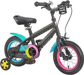 TSDS Bicicleta para niños Bicicleta de montaña Negra 12/14/16 ...