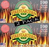 Lightning Nuggets AN100-2 200 Count Fire Starters, Tan
