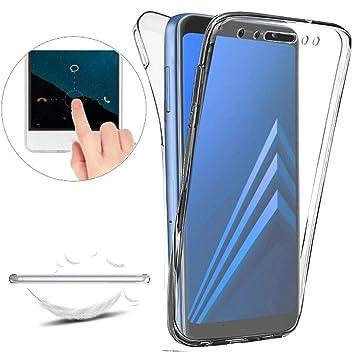 Funda para Samsung Galaxy A6 2018 Carcasas [Cover 360 Grados],Funda Doble Delantera + Trasera Gel Transparente Silicona Integral Shock Absorción Anti ...