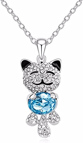 Cute Silver Handmade Crystal Rhinestone ANIMAL NECKLACE Mother/'s Gift Jewelry