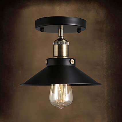 Amazon.com: YG Ceiling Light Vintage Iron Industrial Ceiling ...