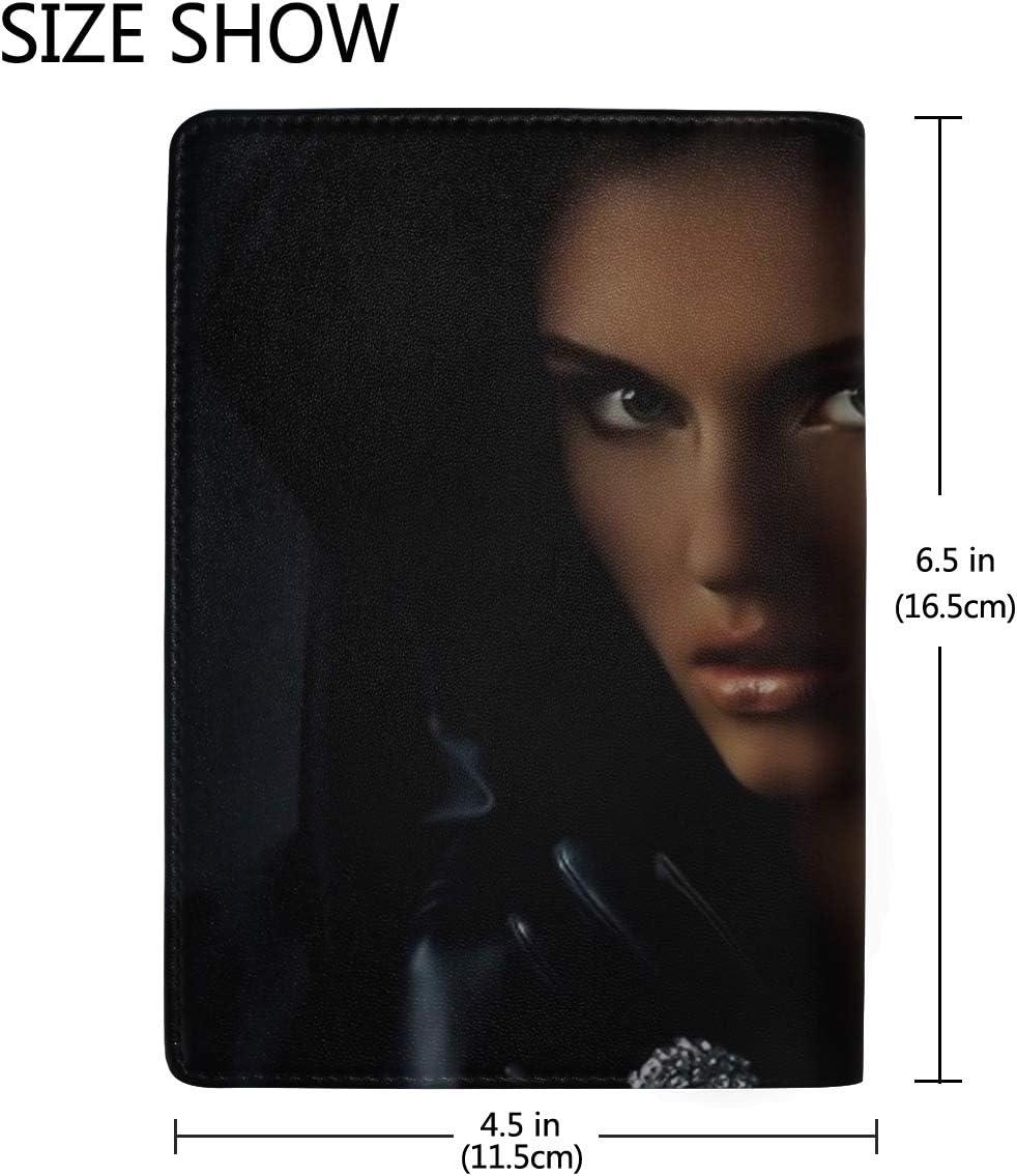Girl Raincoat Stranger Ring Leather Passport Holder Cover Case Travel One Pocket