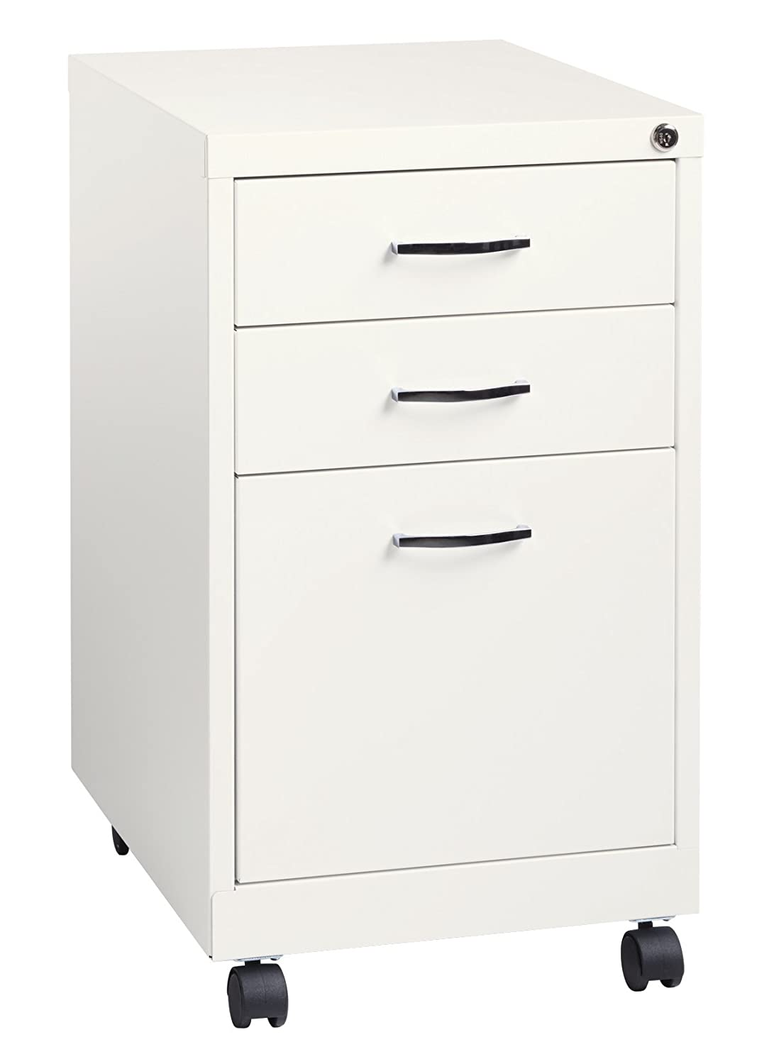 Space Solutions 19 Deep Black Pedestal File Cabinet, Inch Hirsh Industries 21645