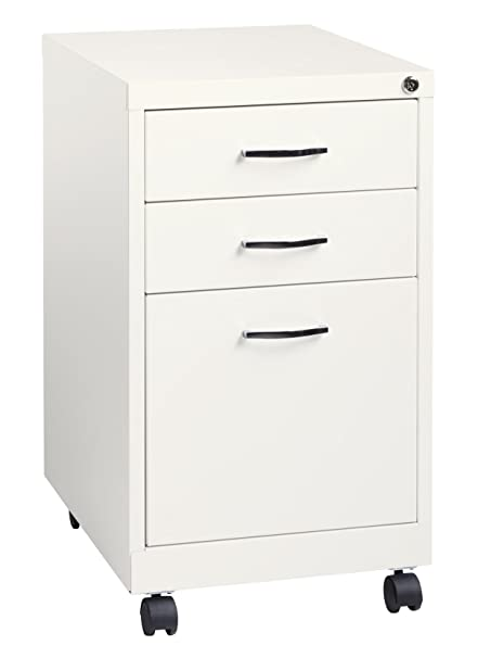 Office Dimensions 19u0026quot; Deep 3 Drawer Mobile Metal Pedestal File Cabinet    Home Office Collection
