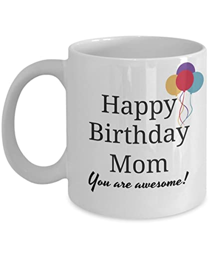 Amazon Happy Birthday Mom Mug