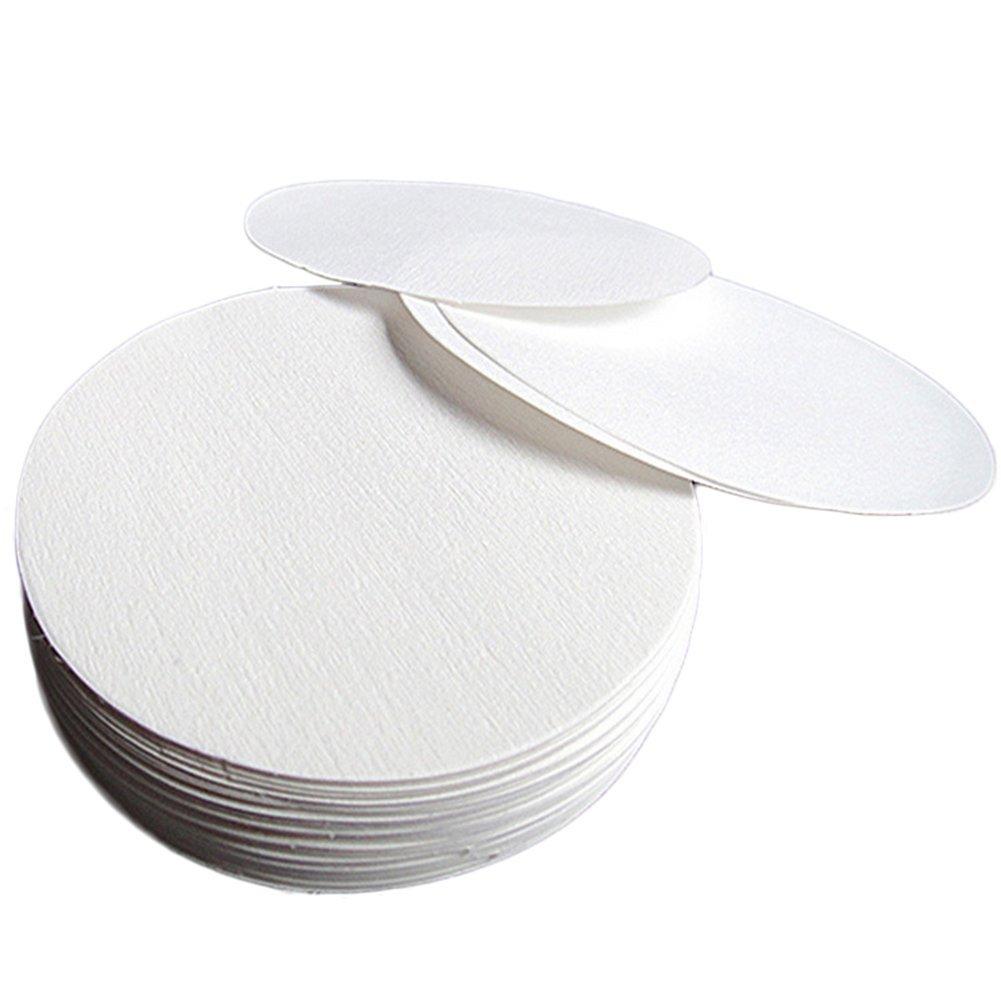 Toruiwa Filter Paper Qualitative Filter Paper Medium Flow Rate for Oil Detection Laboratory Supplies 100pcs (15cm)