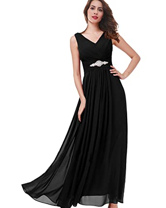 d300259884b Lily Wedding Womens Beaded V Neck Bridesmaid Prom Dresses 2018 Long Formal  Evening Party Gowns TB51