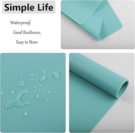 Vert Homcomodar Lot de 4 sets de table en silicone antid/érapant r/ésistant /à la chaleur Facile /à nettoyer Lot de 4