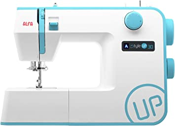 Alfa Style UP 30 - Máquina de Coser, Color Azul: Amazon.es: Hogar