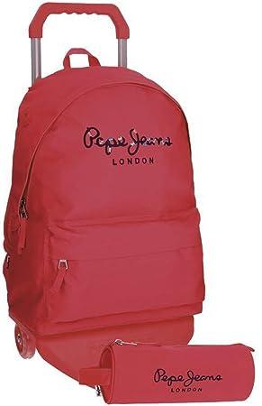 Pepe Jeans Harlow Mochilas Escolares, 42 cm, 22.79 litros, Rosa: Amazon.es: Equipaje