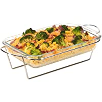 Moss & Stone Oblony Glass - Made by Borosilicate Glass | Durable, User-Friendly | Glass Baking Tray | Microwave Safe…