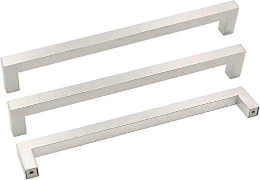 Stainless Steel T BAR PULL HANDLE /& Matching Finger Plate Quality Brushed Finish
