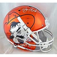 $345 » Barry Sanders Autographed Oklahoma State F/S Chrome Helmet - Beckett Auth White