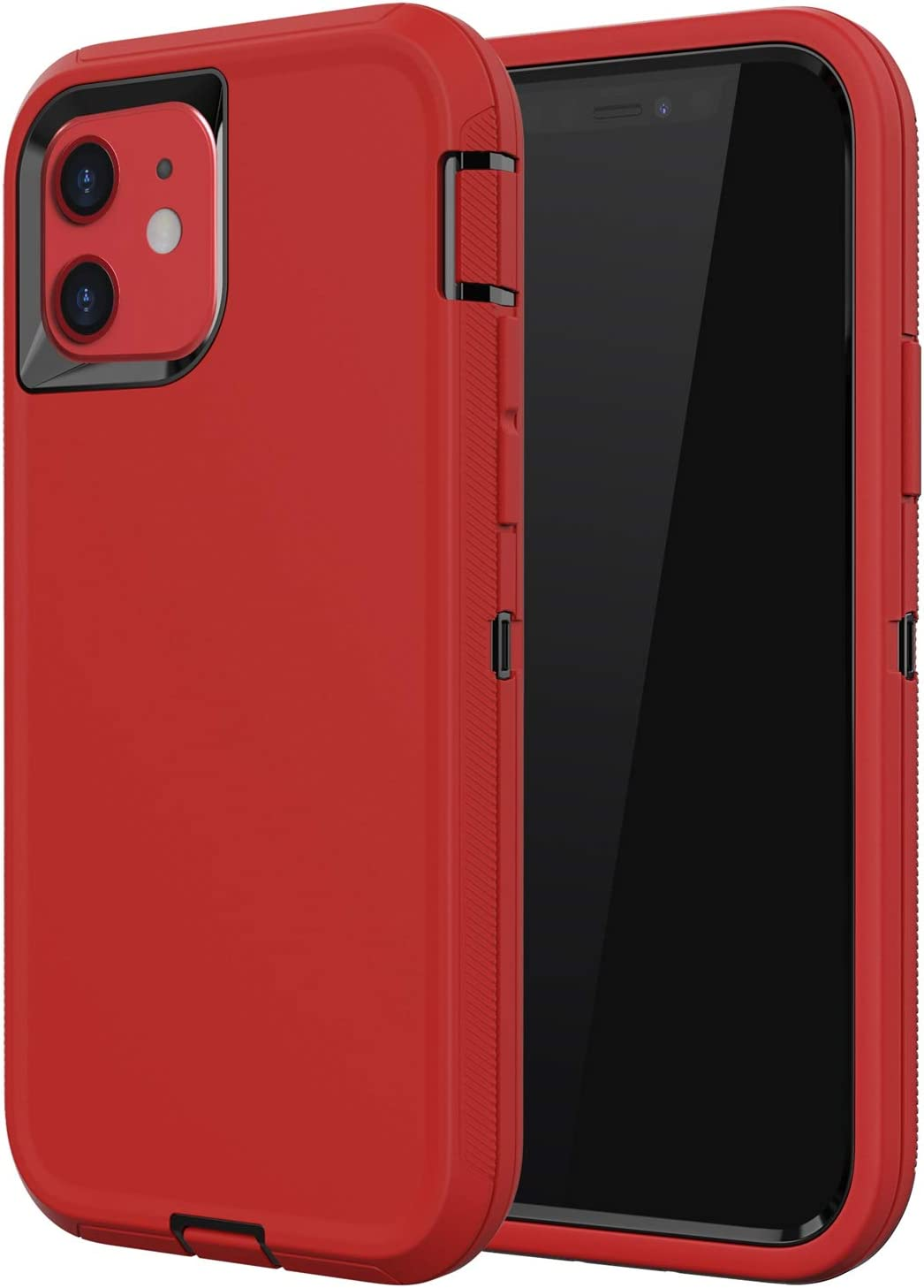 Diverbox Compatible with iPhone 11 Case, [Shockproof] [Dropproof] [Dust-Proof],Heavy Duty Protection Phone Case Cover for Apple iPhone 11 (Red & Black)