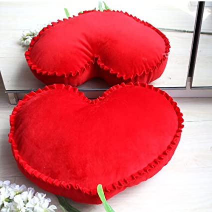 Amazon.com: Misslight Heart Shape Pillows Romantic Throw ...