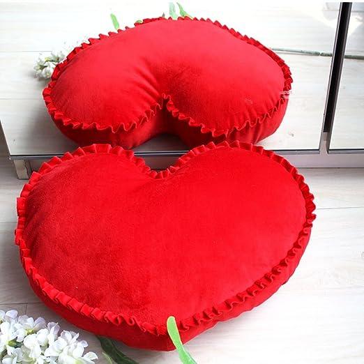 misslight Almohadas en Forma de corazón Almohadas románticas ...