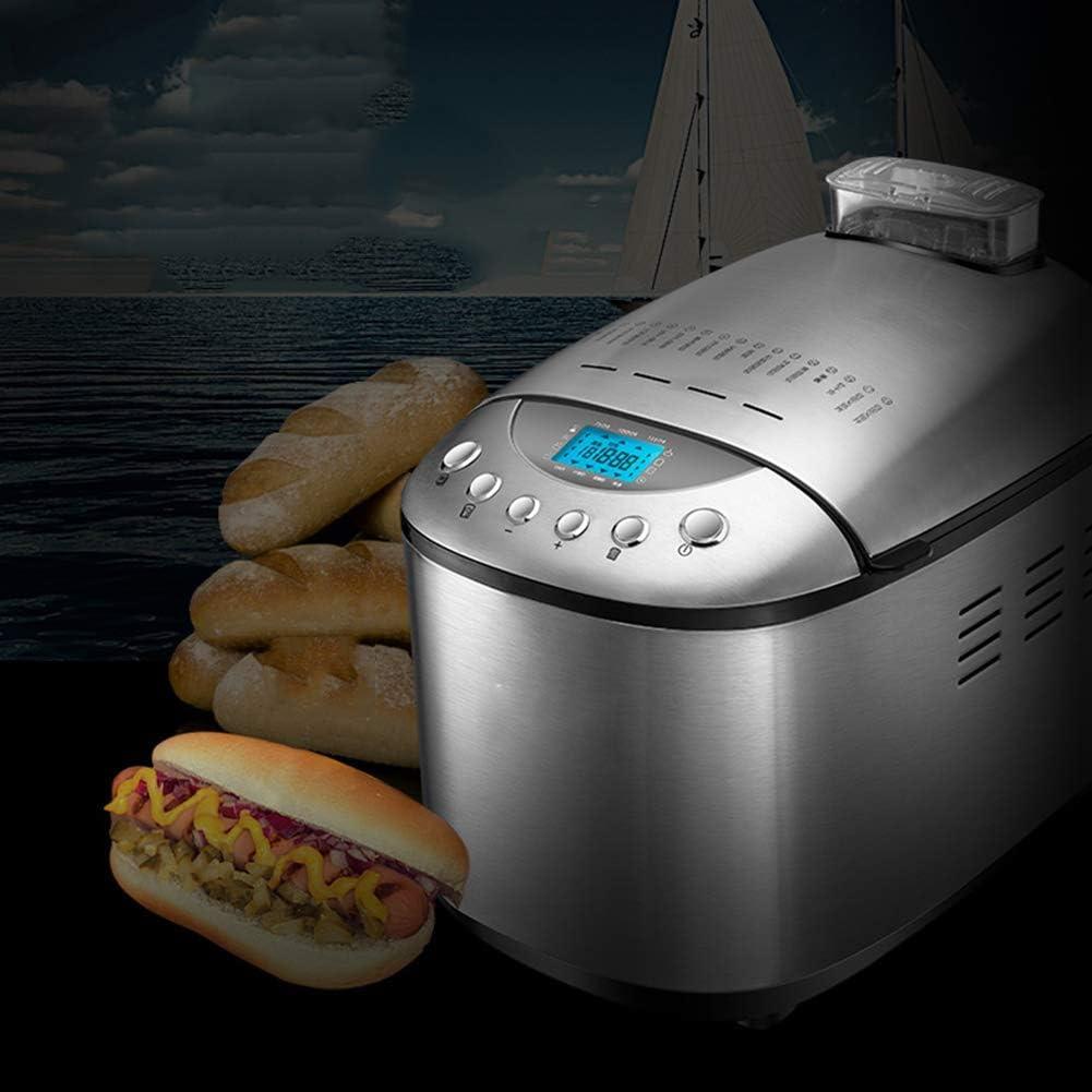 Estantería Máquina de hacer pan Máquina Principiante Hornear Máquina con cambio automático dispensador Ingredientes gran versatilidad 15 colores Programas 3 Corteza de acero inoxidable fácil de limpia: Amazon.es: Hogar