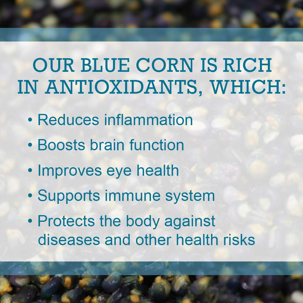 Pinole Blue - Atole Blend, Organic Blue Corn Mix, All-Natural, Traditional, Instant Hispanic Drink, Served...