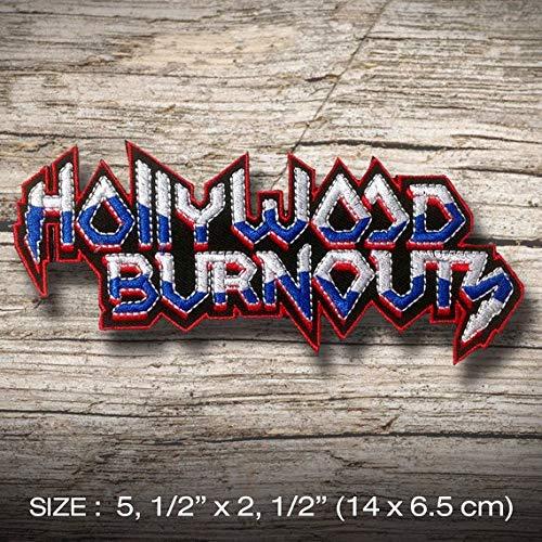 Hollywood Burnouts Patch Iron on Clothing T-Shirt Cap Vest Jacket Denim Jean Coat Decorate DIY Custom Handmade Hobby Gift Craft Enjoy ()
