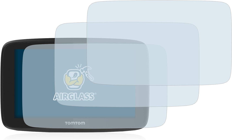 BROTECT Panzerglas Schutzfolie kompatibel mit Tomtom Pro 7350 // Truck - AirGlass 3 St/ück Anti-Fingerprint Ultra-transparent extrem Kratzfest