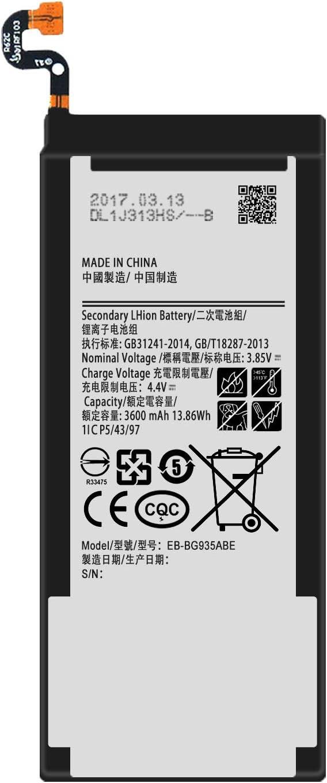 for Verizon Samsung Galaxy S7 Edge G935V Replacement Battery EB-BG935ABE Free Adhesive Tool
