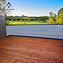 Alion Home Mediterranean Style Privacy Screen For Pool, Porch, Patio, Deck, Balcony, Railing, Fence. 3 FT Height Blue/White (3' x 5')