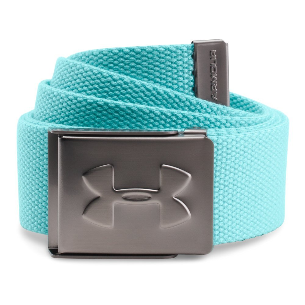 Under Armour Men's Webbed Belt, Blue Infinity /Graphite, One Size by Under Armour