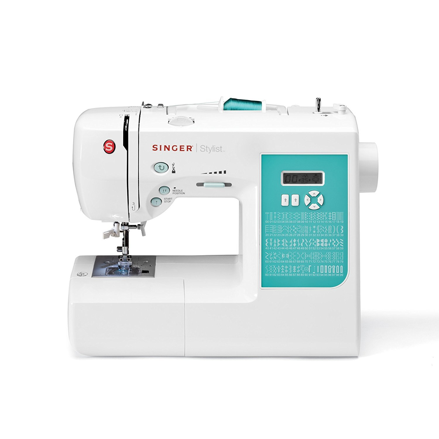 Singer | 7258 100-Stitch Computerized Sewing Machine with 76 Decorative Stitches, Automatic Needle Threader and Bonus Accessories, Packed with Features and Easy to Use
