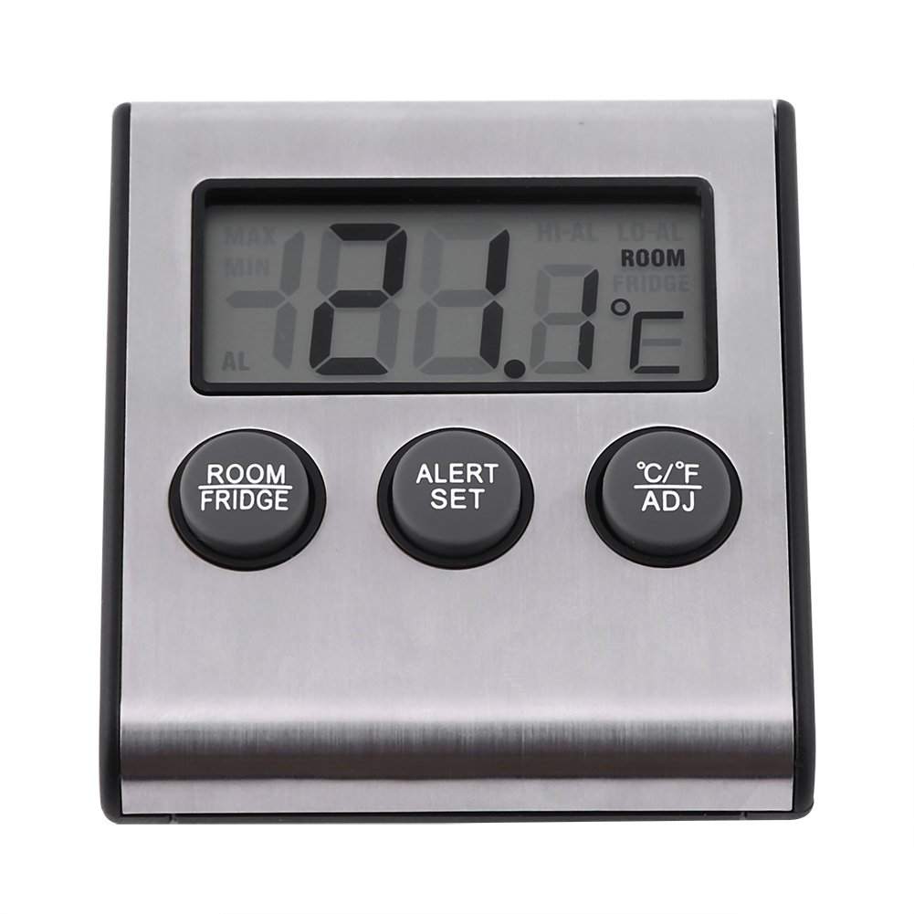 Digital Fridge Thermometer Refrigerator Freezer Thermometer With High Low Temperature Waring Alarm