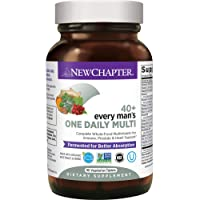 New Chapter Men's Multivitamin, Every Man's One Daily 40+, Fermented with Probiotics...