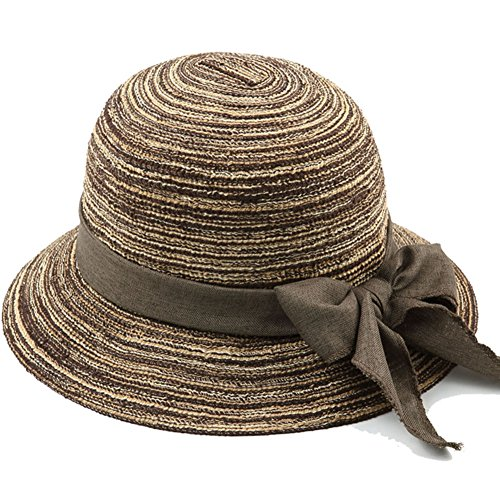 DDSS Summer Hat, Sun Hat Women Summer Elderly People Cotton Yarn Sunscreen Foldable Breathable, 5 Colors Optional /-/ (Color : 2#) ()