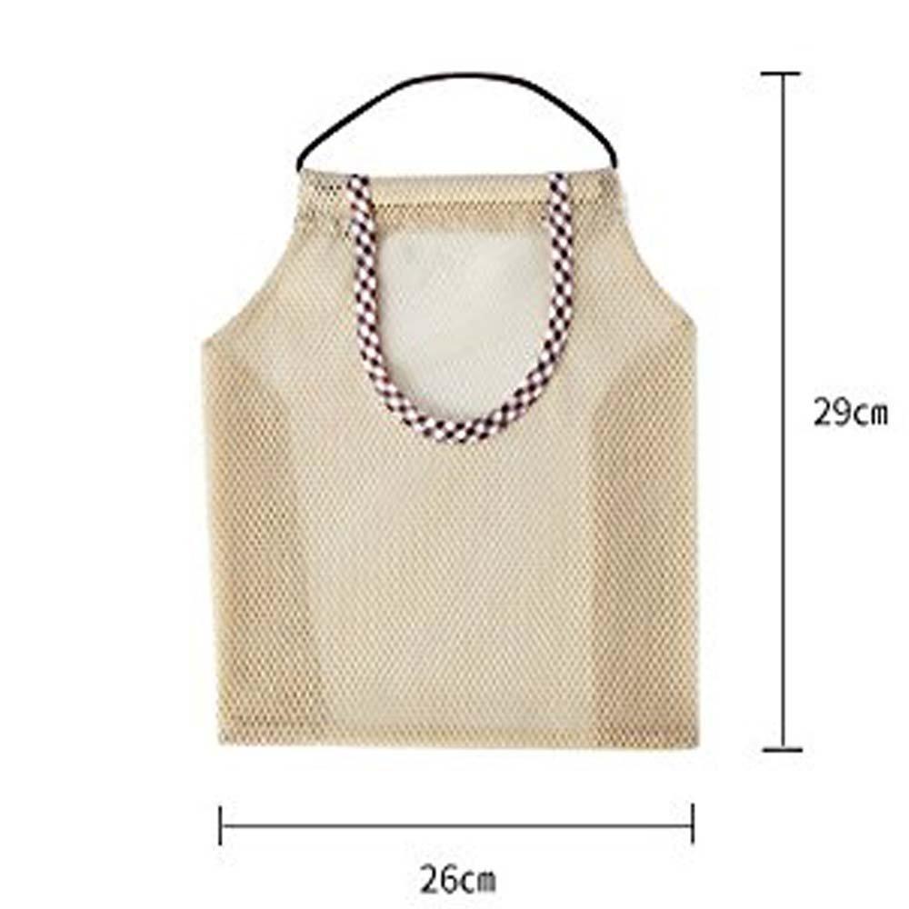 Metyou Bolsa de la compra reutilizable de red de algodón, sirve como bolso o bolsa para frutas, 2 unidades 2pcs Garlic Ginger Storage Bag: Amazon.es: Hogar