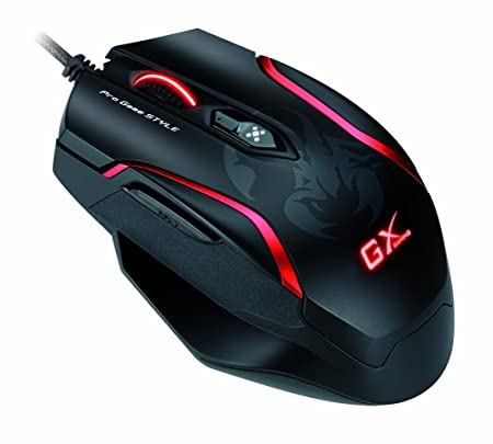 Genius GX-Gaming Maurus X Mouse for FPS Gaming with DPS Range 800 to 4000 and Built-In Metal Weight GX-Gaming Maurus X