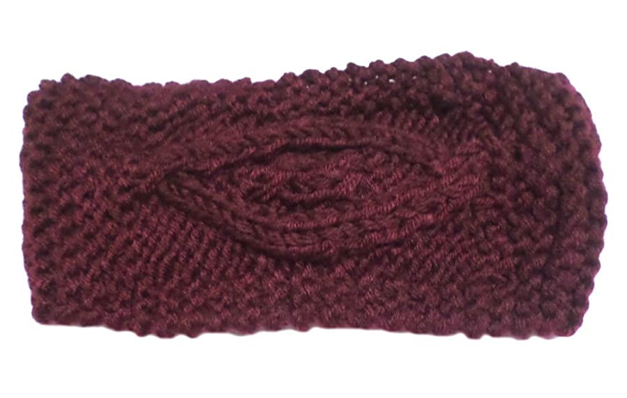 Gingas Galleria Crochet Diamond Pattern Knit Headband Ear Warmer