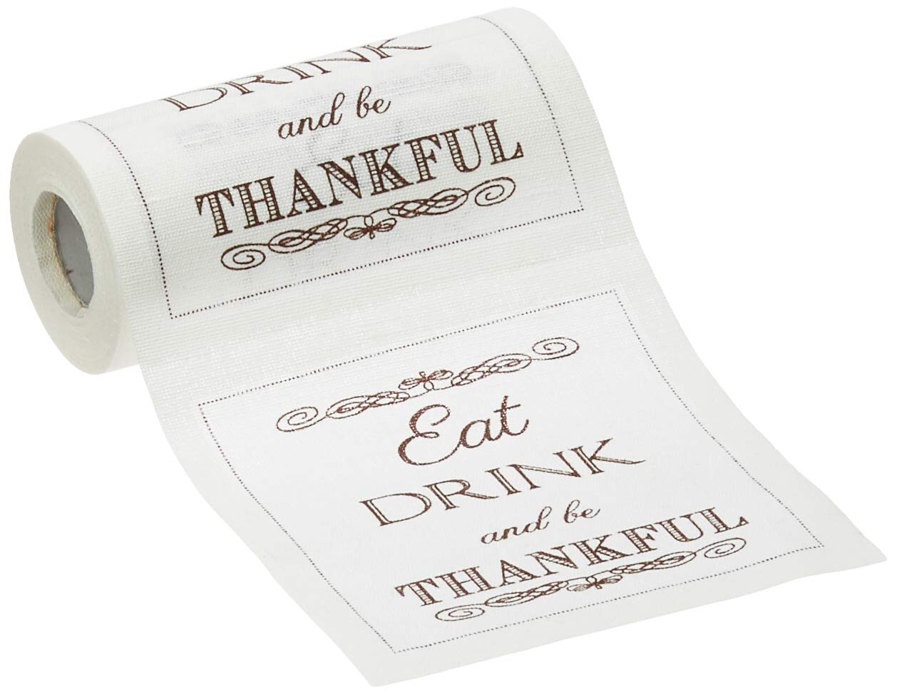 Linen Printed Cocktail Napkin - 4.5 x 4.5 in. - 50 units per roll -  Eat Drink Be Thankful by MY DRAP