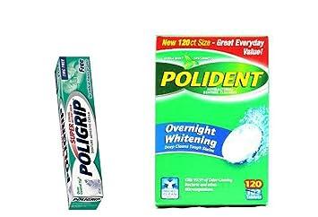 amazon com polident overnight whitening denture cleaner 120 tablet