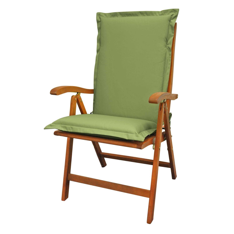 Indoba Sitzauflage Hochlehner Premium Polsterauflagen Grün