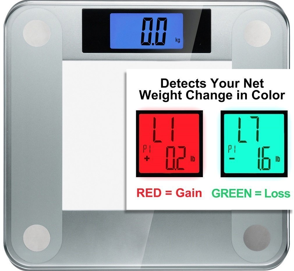 Ozeri Precision Pro II Digital Bath Scale (440 lbs / 200 kg Capacity) with Weight Change Detection Technology ZB14