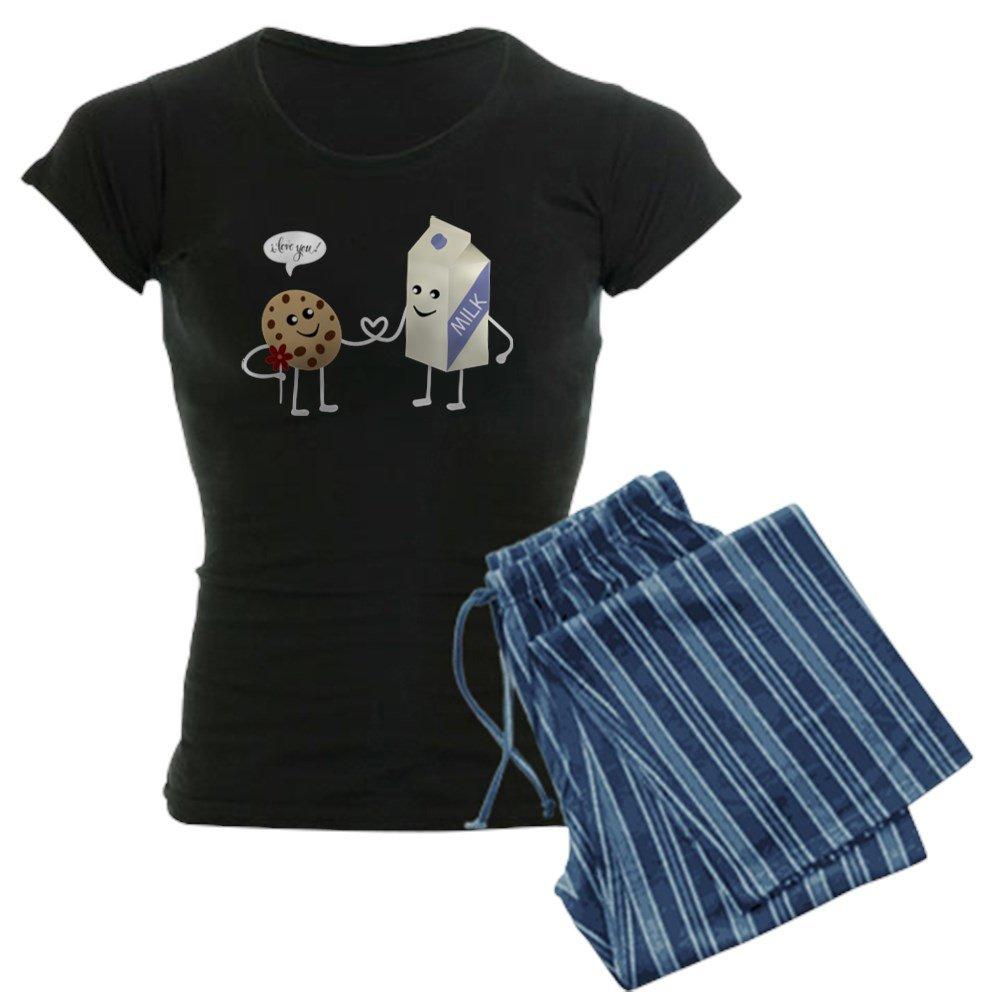 CafePress - Cute Couple - Milk And Cookie Pajamas - Womens Pajama Set