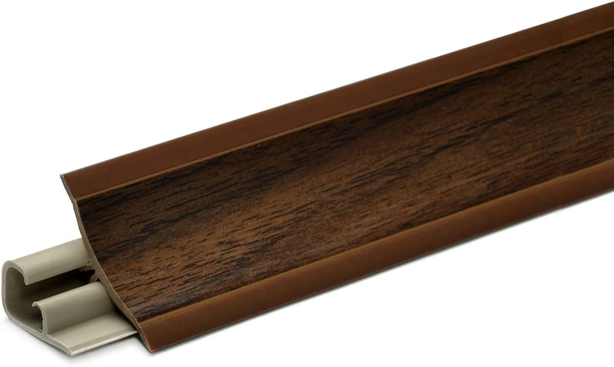 23 x 23mm DQ-PP MUSTER WINKELLEISTE K/üchenleiste Arbeitsplatte Abschlussleiste Leiste K/üche K/üchenabschlussleiste Wandabschlussleiste Tischplattenleisten PVC Nuss dunkel