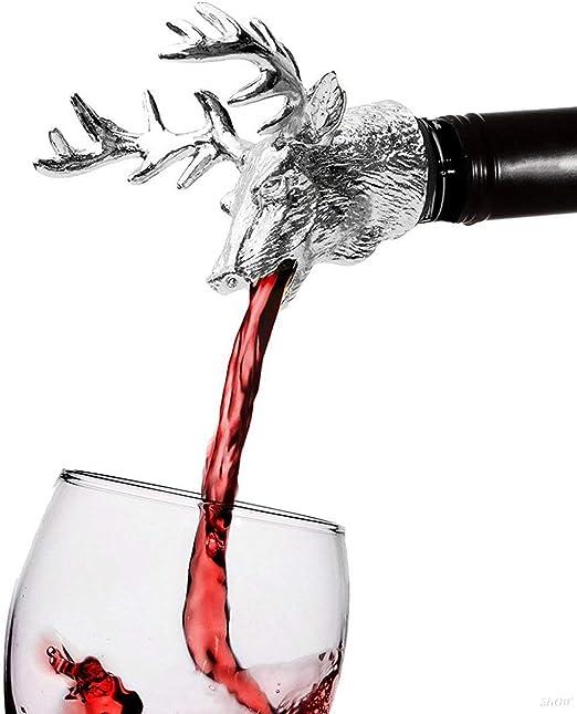1Pc Zinc Alloy Animals Head Wine Pourer Wine Bottle Stoppers Wine Aerators G,AU