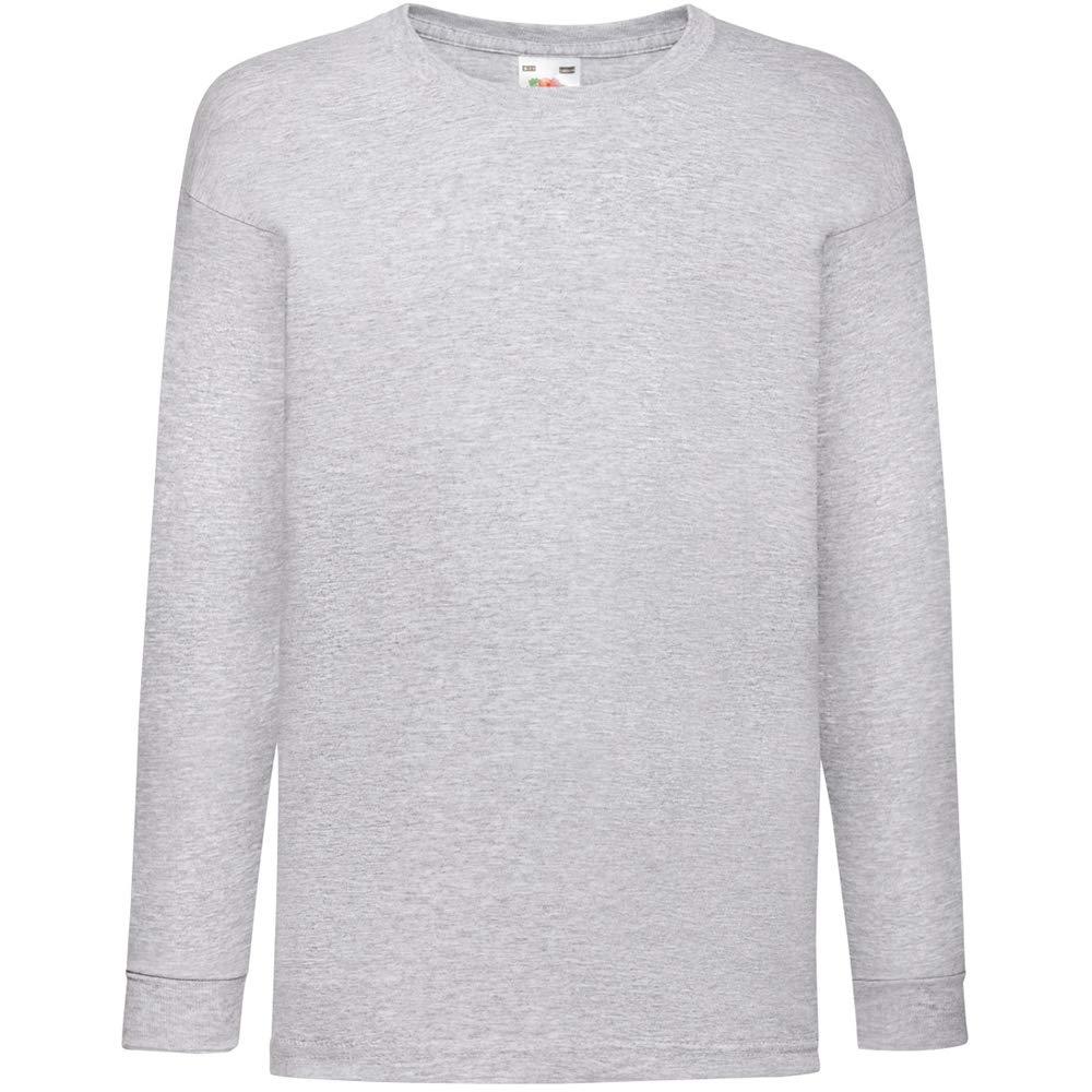 T-shirt da bambino a maniche lunghe bianco 9-11 Anni Fruit Of The Loom