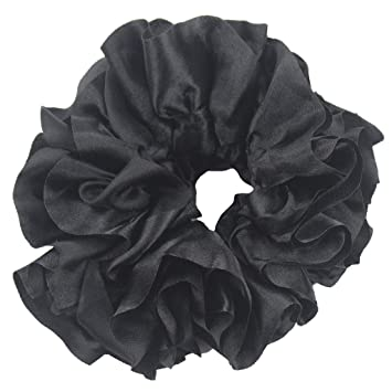 New Womens Two Piece Satin Look 1cm Headband and 3cm Scrunchie Hair Accessories