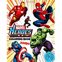 Marvel Heroes Coloring Book: JUMBO Coloring Book for Kids Ages 4-8 (70 Illustrations)