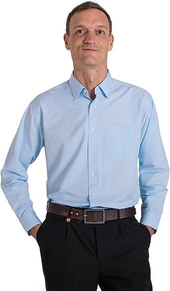 Meerway Camisa para Hombre de Manga Larga Formal Camisas clásicas de Negocios de Ocio Regular fit: Amazon.es: Ropa y accesorios