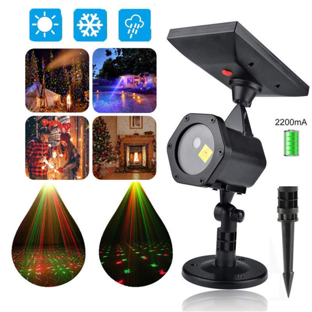 ZQQ Navidad, Las Luces del Proyector Solar LED Proyector De Luz ...